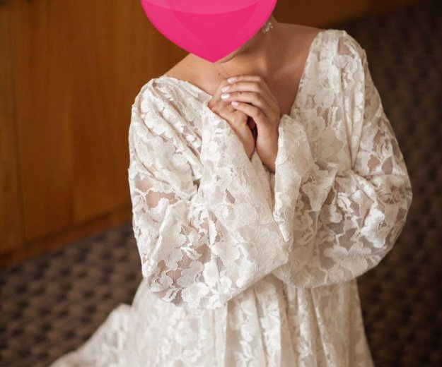 Необычное неповторимое свадебное платье. Фото 2.