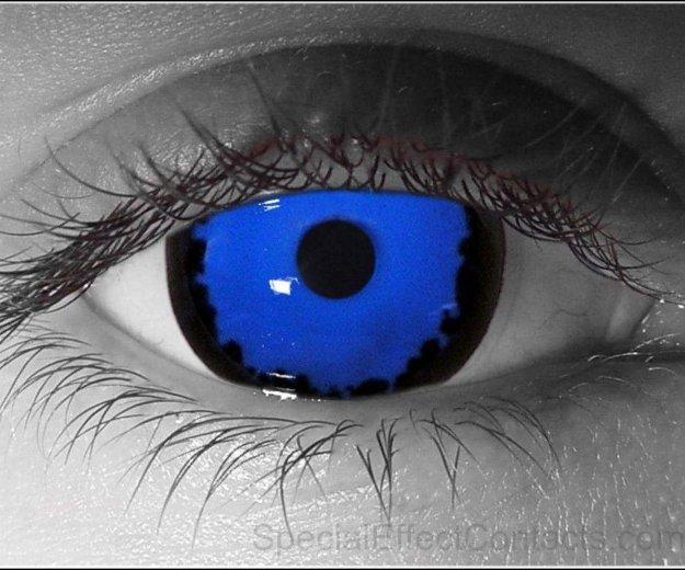 Линзы синие. Фото 1. Ижевск.