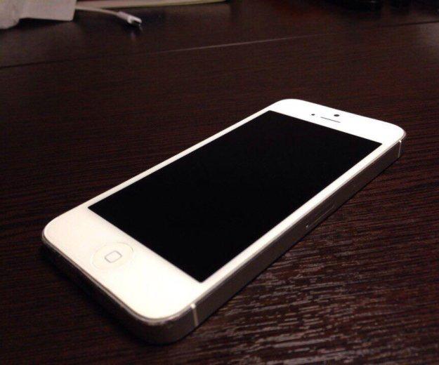 Продаю iphone 5 64gb серебряный. Фото 1.