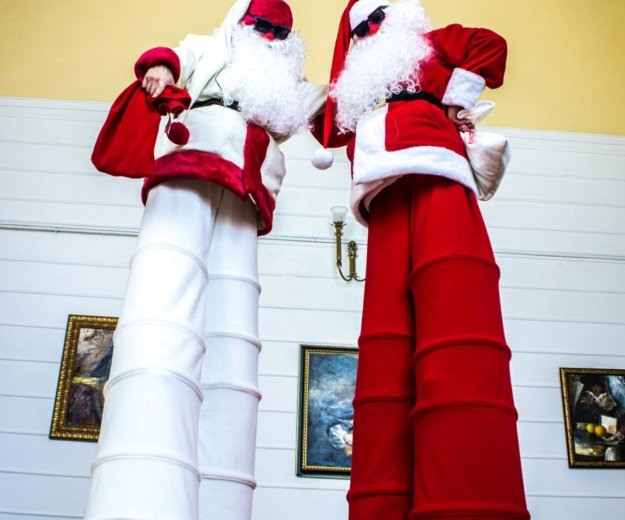 Санта на праздник, дед мороз на новый год, ходули. Фото 3. Ростов-на-Дону.