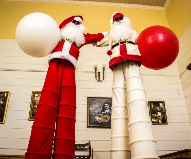 Санта на праздник, дед мороз на новый год, ходули. Фото 1. Ростов-на-Дону.