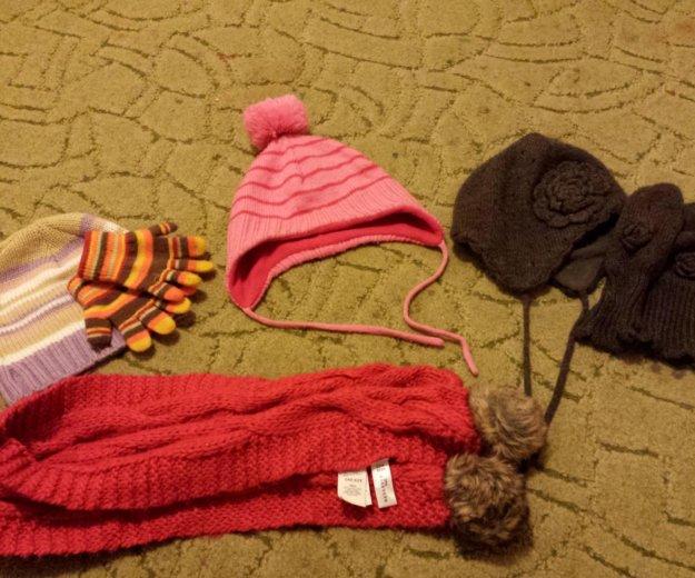 Пакет детских шапочек, шарфа,перчаток.. Фото 1. Ростов-на-Дону.