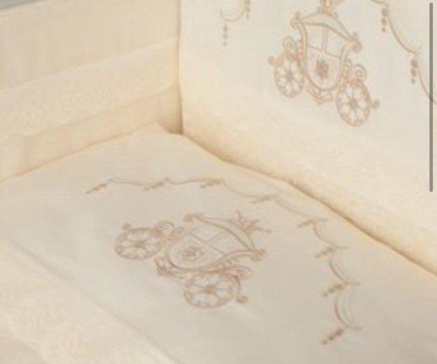 Комплект в кроватку с балдахином и бортами. Фото 3.