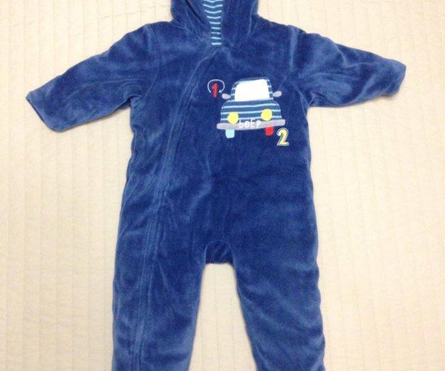 Утепленный велюровый комбинезон детский mothercare. Фото 1. Химки.