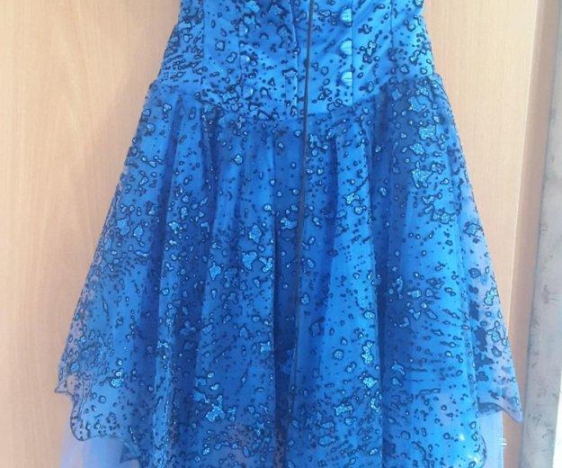 Синее платье (выпускное). Фото 2. Санкт-Петербург.