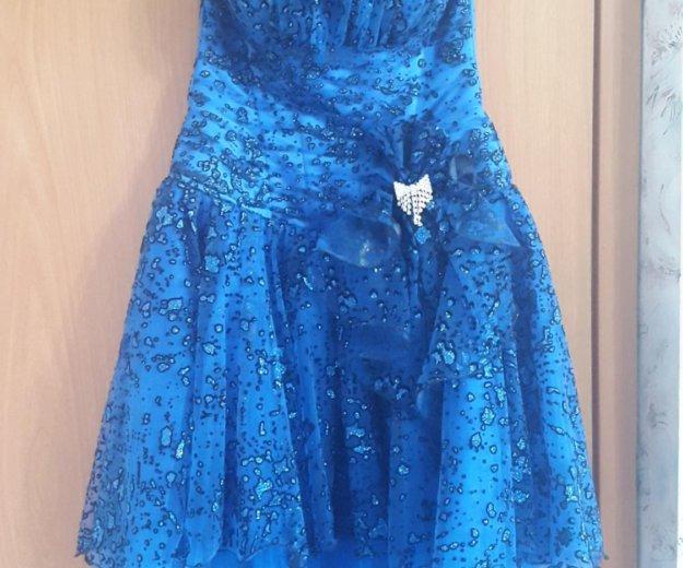 Синее платье (выпускное). Фото 3. Санкт-Петербург.