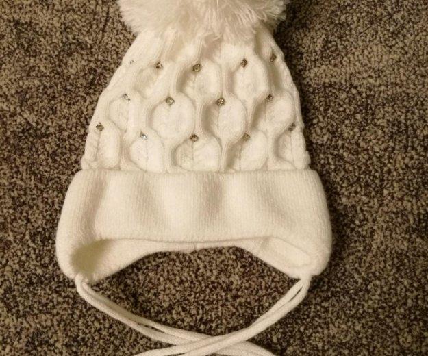Теплая шапочка р. 0—3 мес. Фото 1.