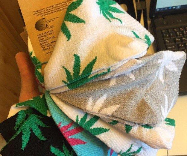 Носки с принтом cannabis.. Фото 1. Москва.
