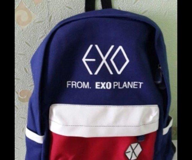 Портфель exo синий красный. Фото 1.