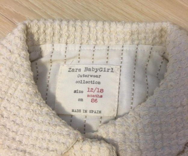 Пальто zara 12/18мес 86см + шапка. Фото 2. Москва.