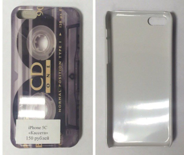 "Чехол на iphone 5c ""кассета"". Фото 1. Санкт-Петербург."