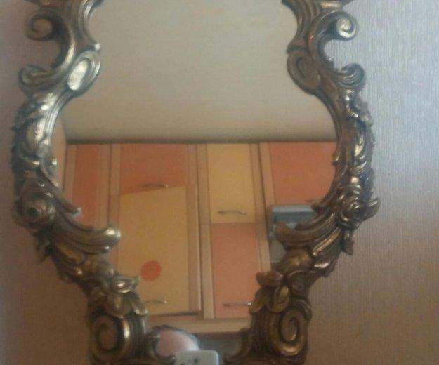 Старинное зеркало в бронзовой раме из франции. Фото 1. Санкт-Петербург.