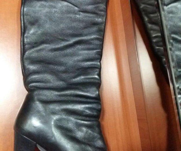 Кожаные сапоги еврозима. Фото 1.