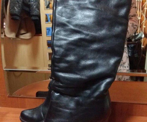 Кожаные сапоги еврозима. Фото 2.