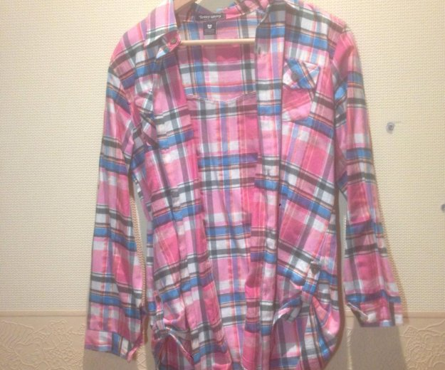 Рубашка в клетку розовая. Фото 1. Красногорск.