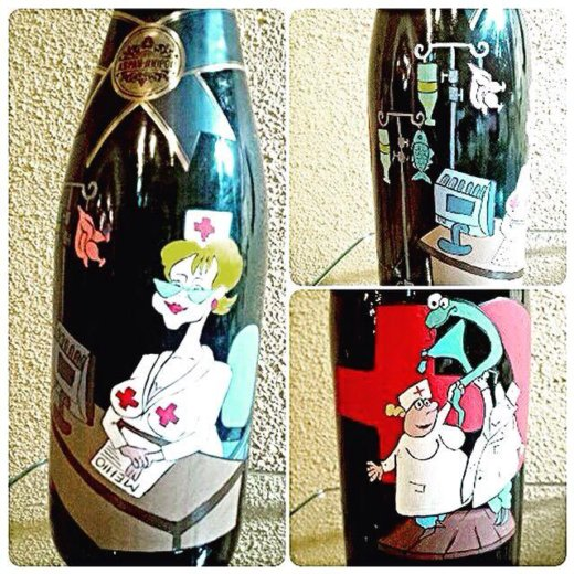 Росписи бутылок. Фото 4. Армавир.