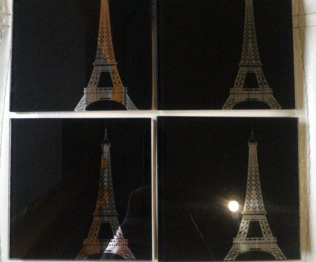 Набор подставок под горячее из закаленного стекла. Фото 1. Дзержинский.