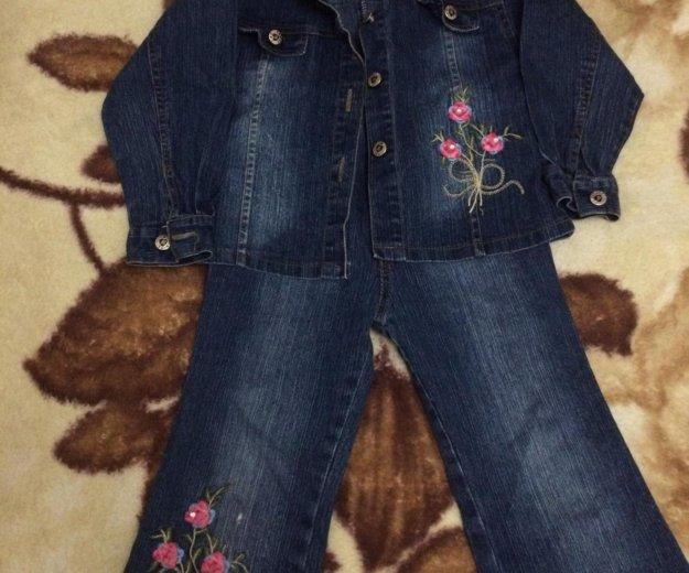 Костюм джинсовый на девочку. Фото 1. Оренбург.
