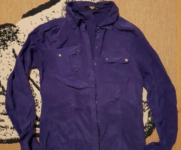 Сине фиолетовая синяя блузка рубашка oasis. Фото 1. Москва.