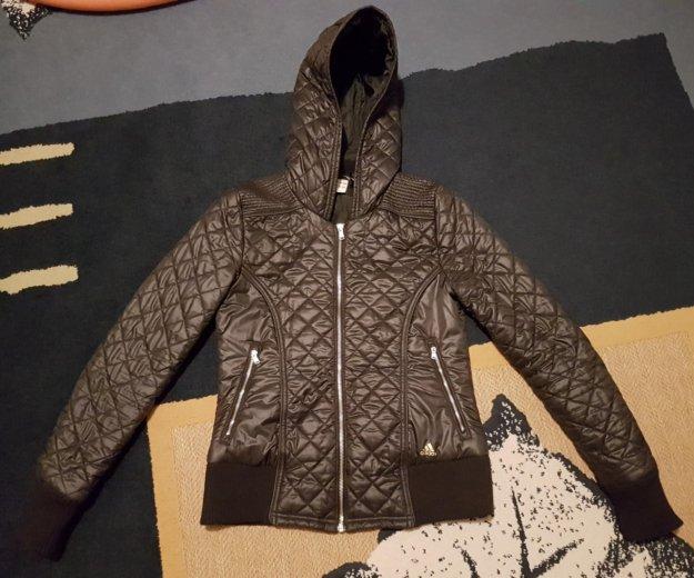 Куртка adidas синтепон с капюшоном. Фото 1. Москва.