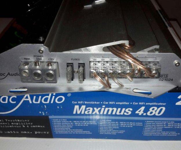 Усилитель mac audio maximus 4.80. Фото 2. Краснодар.