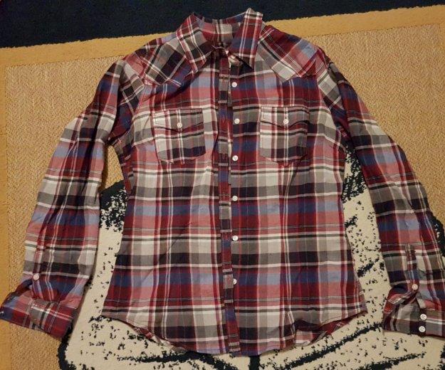 Рубашка клетчатая h&m и твое. Фото 1. Москва.