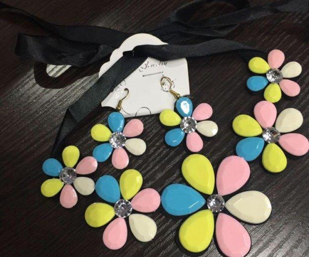 Набор серьги и украшение на шею. Фото 1. Малаховка.