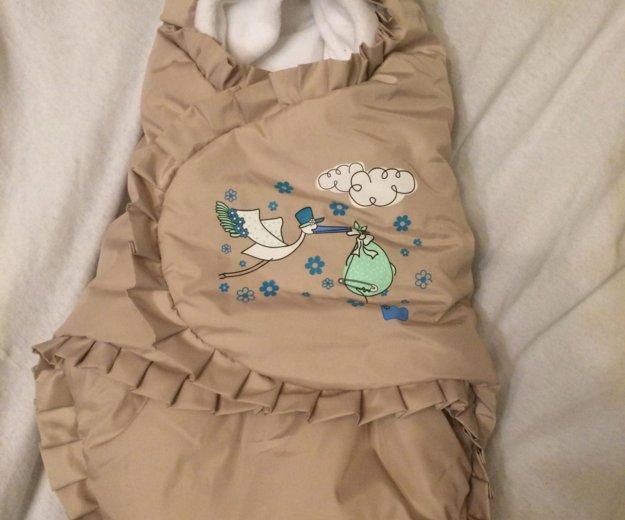 Конверт на выписку для новорождённого. Фото 1. Мурино.