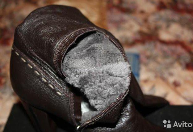 Сапоги демисезонные bonetti темно-коричневые, кожа. Фото 1. Подольск.