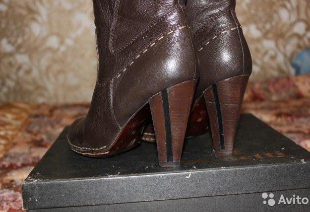 Сапоги демисезонные bonetti темно-коричневые, кожа. Фото 2. Подольск.