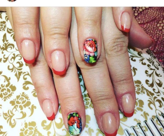 Наращивание ногтей, покрытие shellac. Фото 3. Москва.