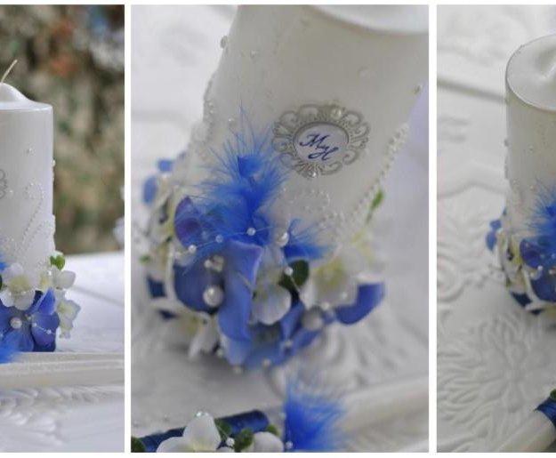 Свечи и фужеры на свадьбу. Фото 1. Саратов.
