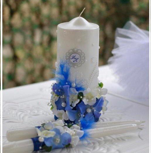 Свечи и фужеры на свадьбу. Фото 2. Саратов.