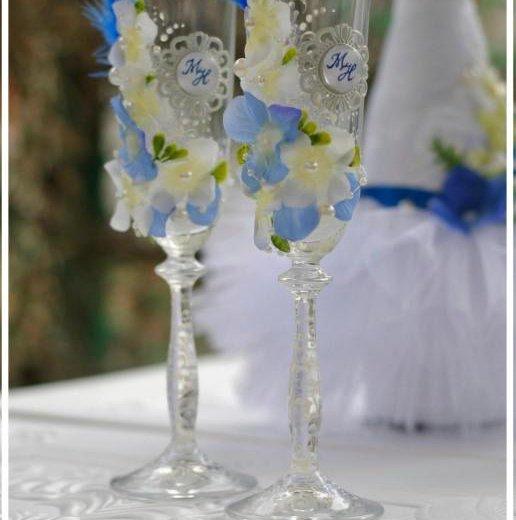 Свечи и фужеры на свадьбу. Фото 4. Саратов.