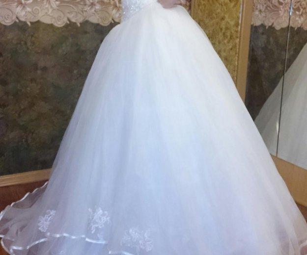 Платье свадебное р42-44. Фото 1. Санкт-Петербург.