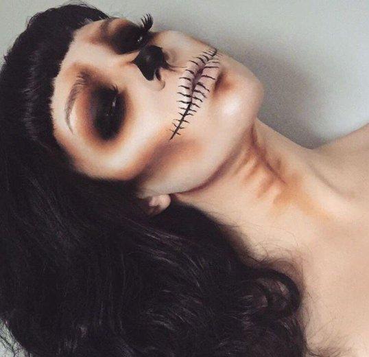 Макияж на хеллоуин, вечерний дневной pin up макияж. Фото 2. Мурино.