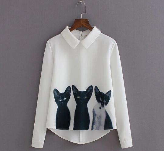 Новая рубашка с котятами. Фото 1. Санкт-Петербург.