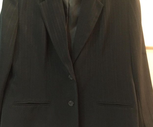 Пиджак женский чёрный. р.52 костюм. Фото 1. Москва.
