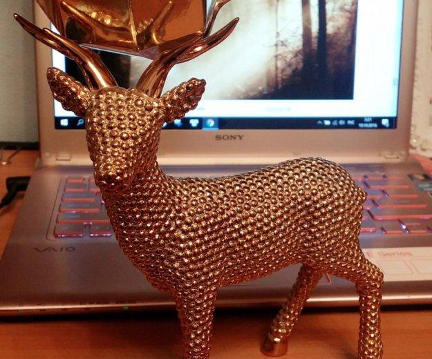 Статуэтка золотой олень. Фото 2. Москва.