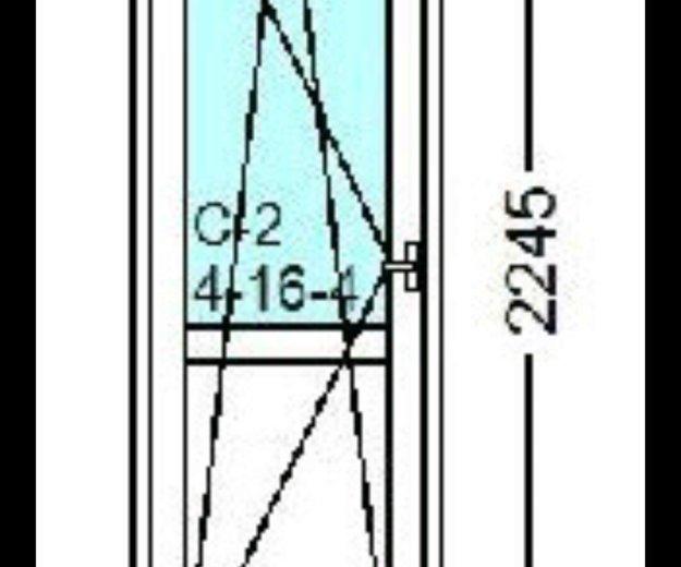 Балконная дверь rehau blitz 718x2245. Фото 1. Балаково.