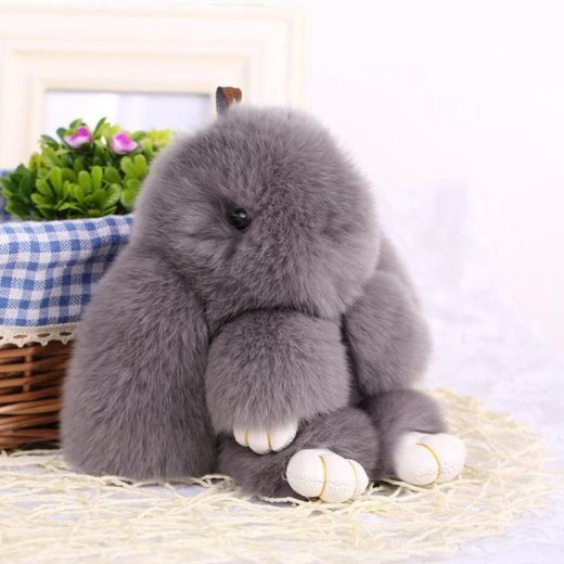 Меховой брелок кролик из натурального меха. Фото 1. Москва.