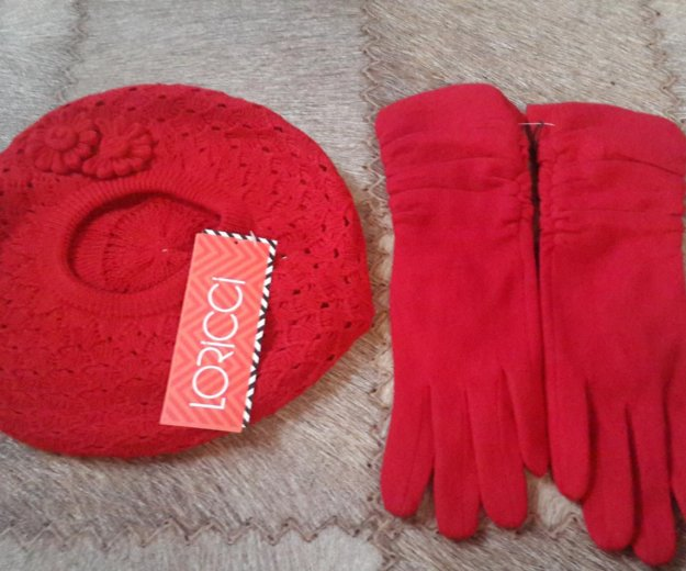 Берет + перчатки!новые!. Фото 1. Таштагол.