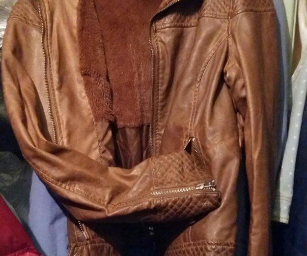 Кожанная куртка bershka. Фото 1. Омск.