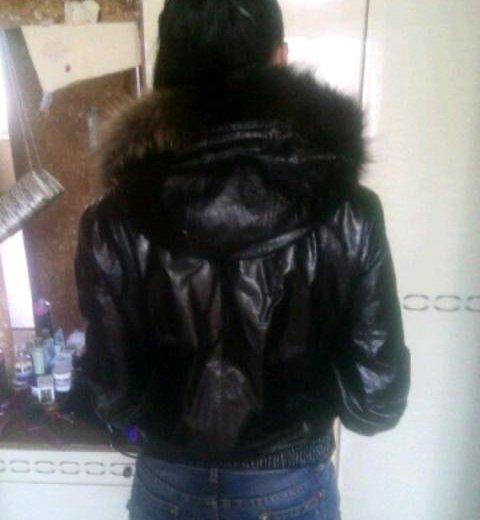 Продам куртку из сжатой лаковой кожи. Фото 3. Новосибирск.