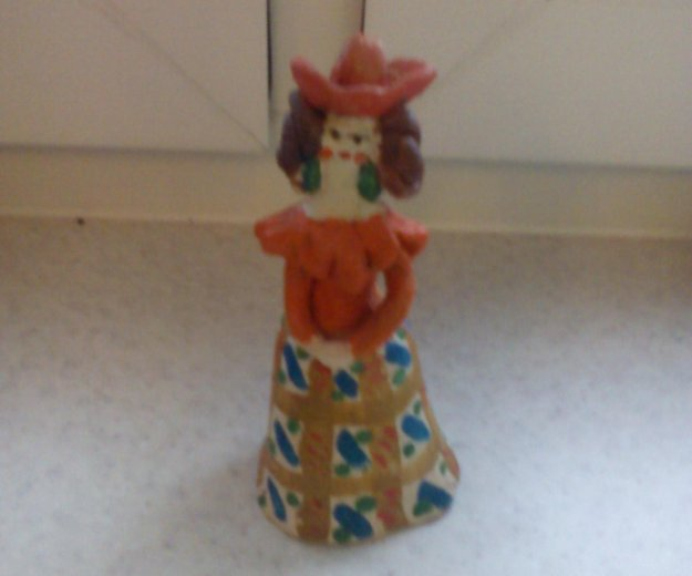 Кукла в технике керамика. Фото 1.