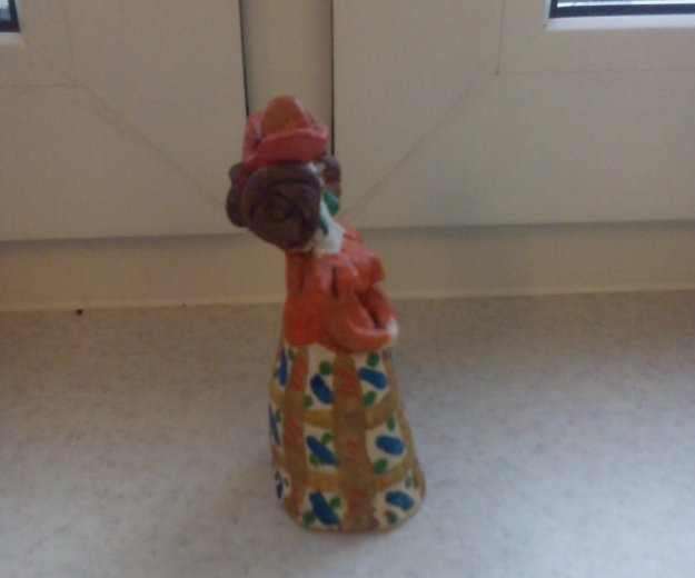 Кукла в технике керамика. Фото 3.