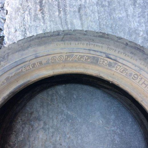 Продам одно колесо 205/55/16 лето износ 5%. Фото 2. Хабаровск.