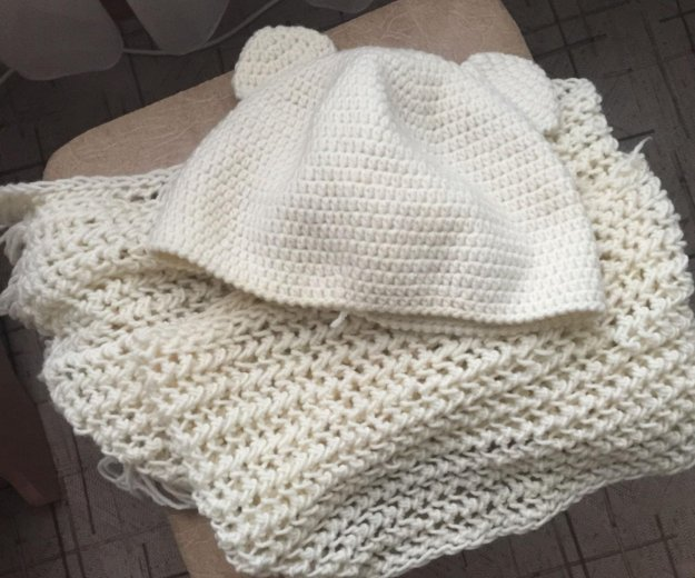 Комплект шапка+шарф. Фото 1. Новосибирск.