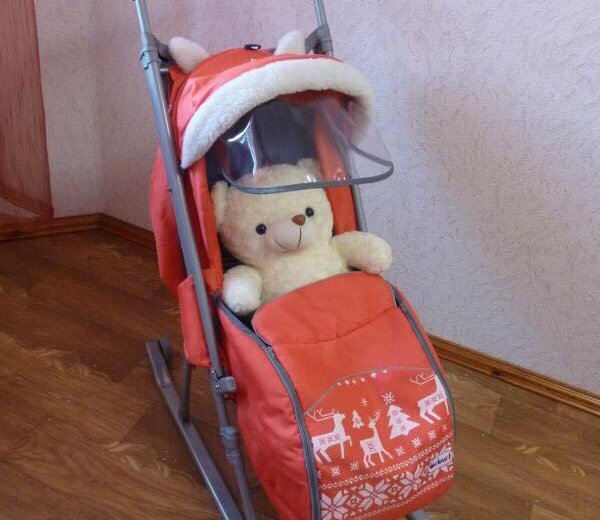 Санки-коляска. Фото 2. Хабаровск.