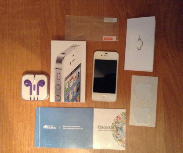 Iphone 4s 16gb white. Фото 1.
